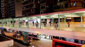 En modern fotbro på Nong Kok HK stock video
