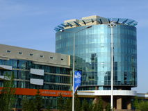 En modern kontorsbyggnad i Astana Arkivfoton