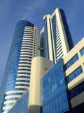 En modern kontorsbyggnad i Astana Arkivbild