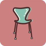 En modern stol på en rosa bakgrund Stock Illustrationer