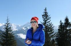 En montagnes d'hiver Photo libre de droits