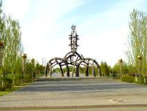 En monument av den original- stilportionen som en parkeraport Arkivbilder