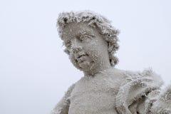 En monument som täckas med rimfrost Royaltyfri Bild