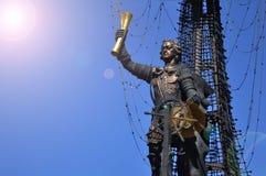 En monument till den ryska kejsaren Peter f?rsta i parkerar Museon arkivfoto