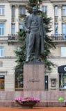 En monument till författaren Maxim Gorky arkivbilder