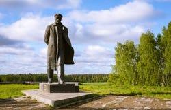 En monument till Lenin Arkivbild