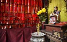 En-mor kinesisk tempel i det Macao macau porslinet arkivbilder