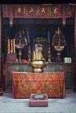 En-mor kinesisk tempel i det macau porslinet Royaltyfria Bilder