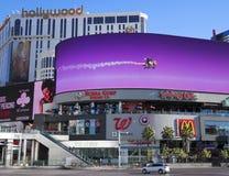 En morgon Harmon och Las Vegas Blvd skott Arkivfoto