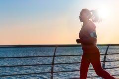 En morgon joggar Arkivfoton