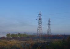 En morgonsikt av fältet Royaltyfria Foton