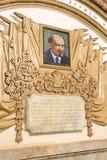En mosaikstående av den sovjetiska ledaren på tunnelbanastationen i M Fotografering för Bildbyråer