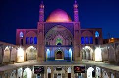 En moské i Kashan, Iran Arkivfoto