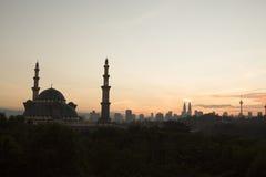 En moské Kuala Lumpur Royaltyfria Foton