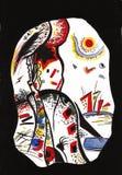 En motivos del ` s de Kandinsky Fotografía de archivo