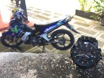 En motorcykel och Royaltyfri Foto