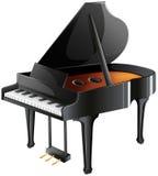 En musikers piano Arkivfoto