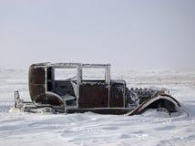 En mycket kall bil Arkivfoto