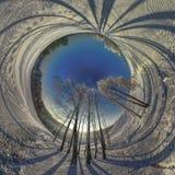 En mycket kall vintermorgon Arkivfoto