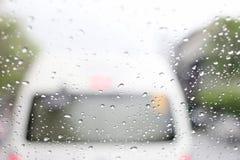 En mycket sällsynt regnig dag i Bangkok, Thailand royaltyfria foton