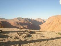 En mycket torr dal sannerligen arkivbild