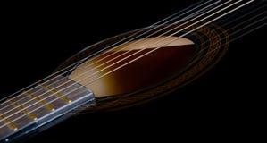 En mycket trevlig akustisk gitarr royaltyfri foto