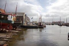 En mycket trevlig hamn i Nederländerna Fotografering för Bildbyråer