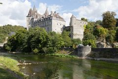 En mycket trevlig slott i Belgien Royaltyfri Fotografi
