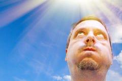En mycket varm dag Fotografering för Bildbyråer