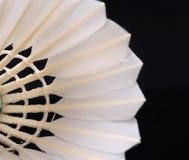 En närbild av badminton Arkivfoto