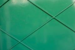 En närbild av en grön järnvägg Royaltyfria Foton