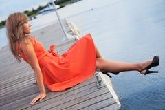 En naranja Fotografía de archivo libre de regalías