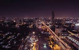 En natt i Bangkok Arkivfoton