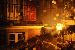 En natt i Lisbonne Royaltyfri Fotografi