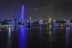 En natt i London Royaltyfria Bilder