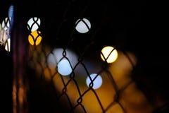 En natt med oskarpa ljus Royaltyfri Fotografi
