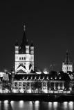 En nattvision av helgonet Martin Church Arkivbilder
