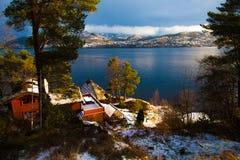 En norsk fristad Fotografering för Bildbyråer
