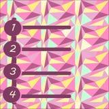 En numerisk värdering på en färgrik polygonal bakgrund Fotografering för Bildbyråer