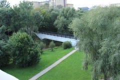 En ny bro över floden Royaltyfri Bild