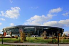 En ny fotbollShakhtar Donetsk stadion Fotografering för Bildbyråer