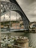 En o Porto Portugal de Vista del Puente Fotografia de Stock Royalty Free