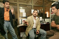En oberoende irakisk TV-station, Cario Arkivbilder