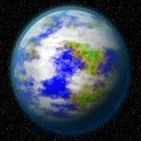 En okänd planet i universumet Arkivfoton