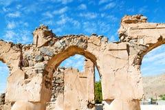 en Omán abandonó el cielo nublado Imagen de archivo libre de regalías