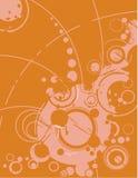 En orange bakgrund Royaltyfri Illustrationer