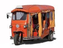 En orange tuktuk Royaltyfri Foto