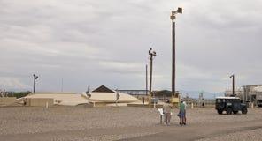 En ovannämnd jordsikt för jättemissilmuseum Arkivfoto