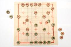 En pågående lek av kinesiskt schack Arkivbilder