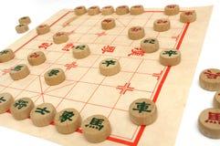 En pågående lek av kinesiskt schack Arkivbild